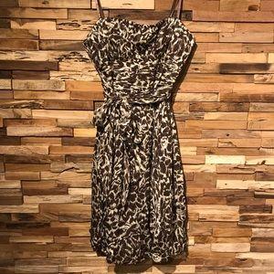 BCBG Max Azria Strapless Silk Chiffon Dress